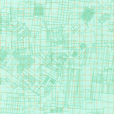 Collection CF - Blueprint in Mint - Carolyn Friedlander - AFR-19929-32 - Half Yard