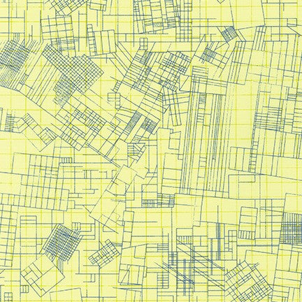 Collection CF - Blueprint in Yellow - Carolyn Friedlander - AFRM-19929-5 - Half Yard