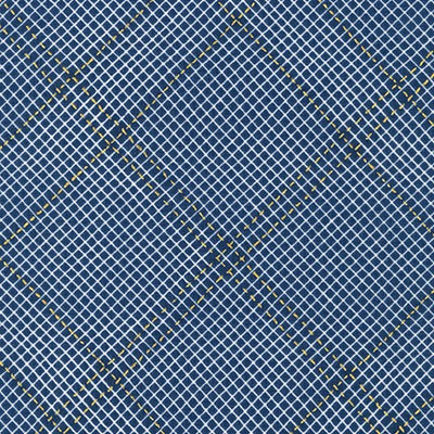 Collection CF - Diamond Grid in Navy - Carolyn Friedlander - AFRM-19932-9 - Half Yard