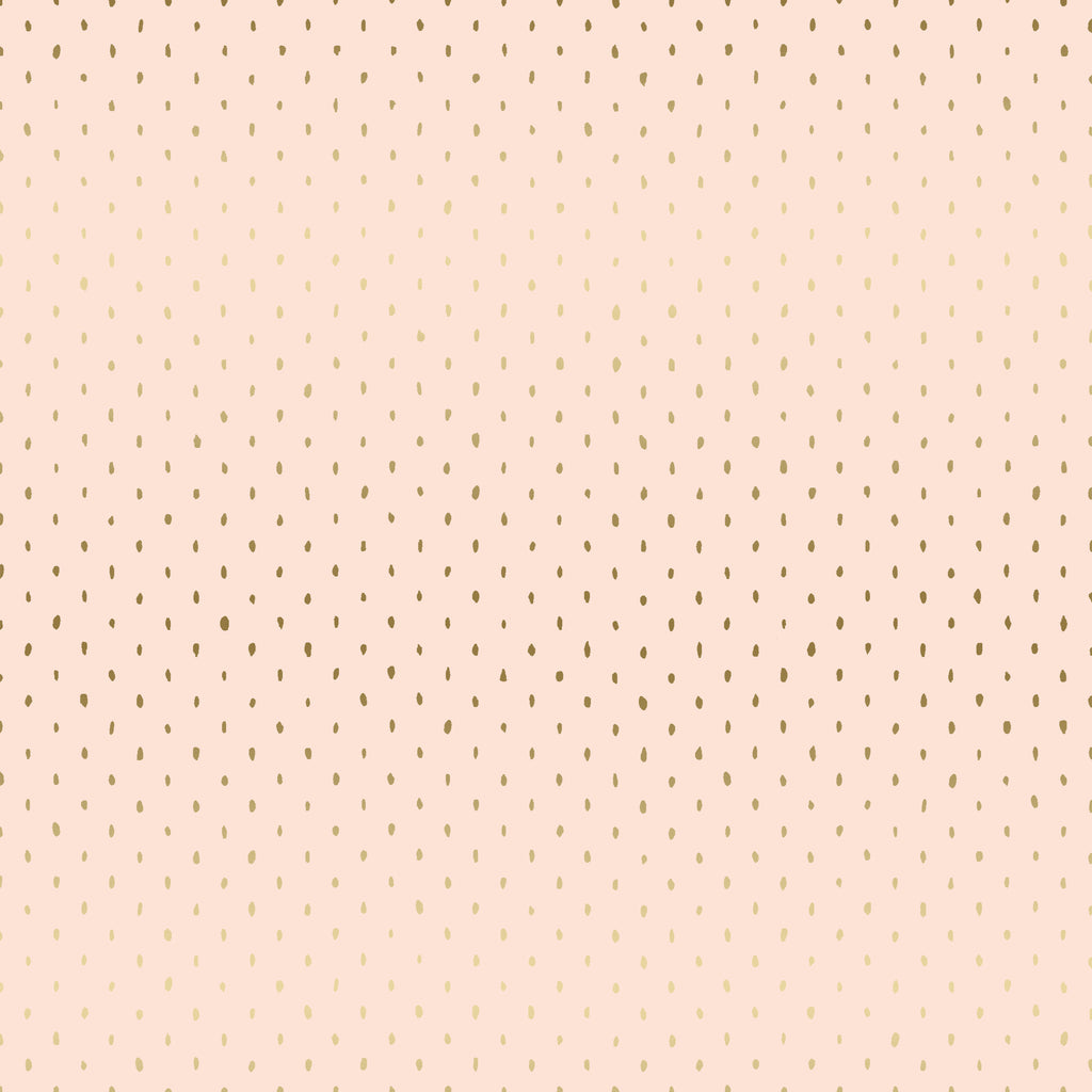 C+S Basics - Stitch and Repeat in Blush Metallic - Cotton + Steel - CS101-BL5M - Half Yard