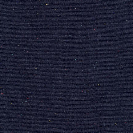 Essex Linen - Speckle Yarn Dyed in Navy - Robert Kaufman Fabrics - E134-1243 - Half Yard