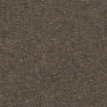 Essex Linen - Yarn Dyed in Espresso - Robert Kaufman Fabrics - E064-1136 - Half Yard