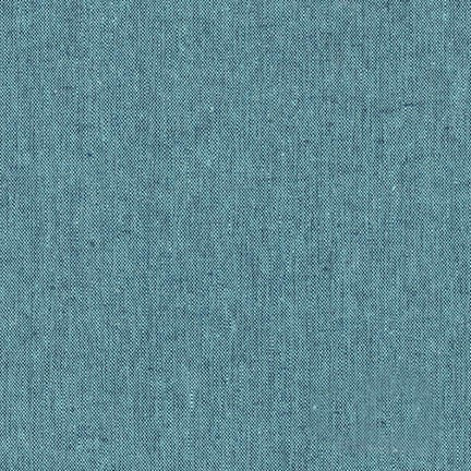Essex Linen - Yarn Dyed in Malibu - Robert Kaufman Fabrics - E064-494 - Half Yard