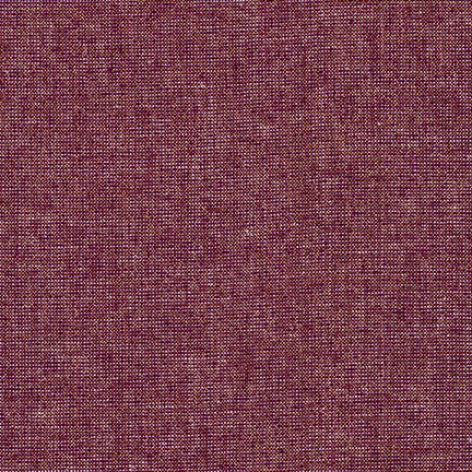 Essex Linen - Metallic Yarn Dyed in Burgundy - E105-1054 - Half Yard
