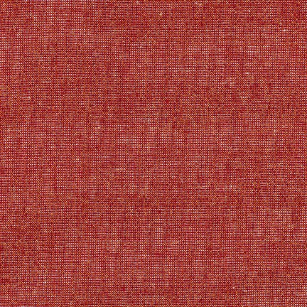 Essex Linen - Metallic Yarn Dyed in Ruby - E105-352 - Half Yard