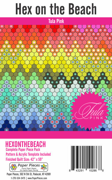 Tula Pink Hex on the Beach Pattern and Paper Pieces
