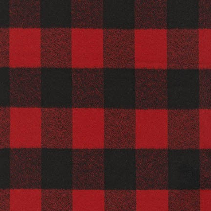 Mammoth Flannel - Mammoth in Red - Robert Kaufman - SRKF-14876-3 - Half Yard