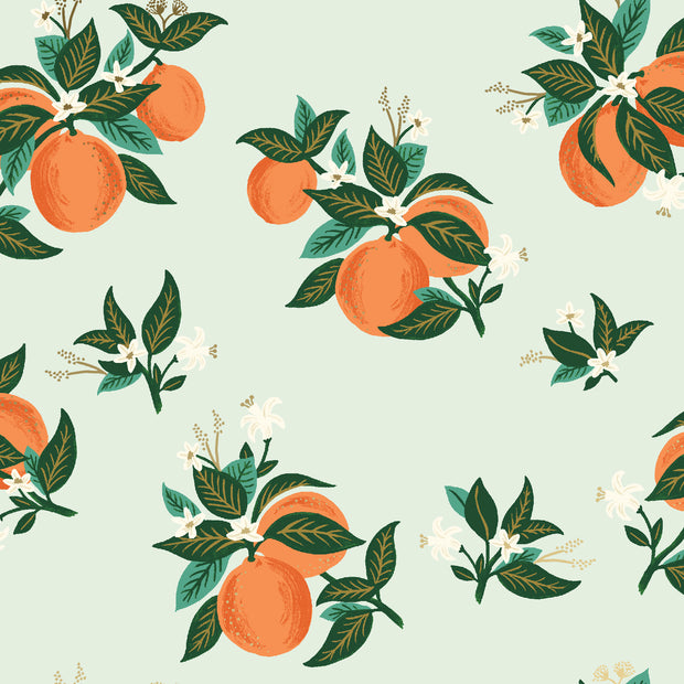 Primavera - Citrus Blossom in Orange Metallic - Rifle Paper Co. - RP301-OR4M - Half Yard