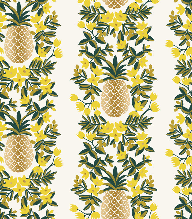 Primavera - Pineapple Stripe in Cream - Rifle Paper Co. - RP302-CR2M - Half Yard