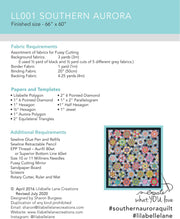 Southern Aurora - EPP Pattern and Papers - Lilabelle Lane Creations - LL001