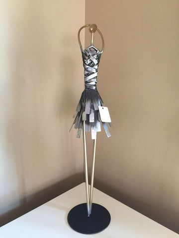 Metal Ballerina Dancer Figurine Statue Ornament 19.5 inches tall