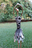 Metal Ballerina Ballet Dancer Figurine Statue Ornament 19.5 inches tall
