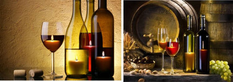 2 Wine Bottles LED Canvas Wall Plaque