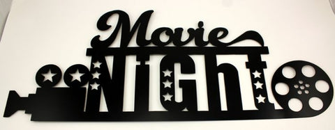 METAL MOVIE NIGHT HOME THEATRE WALL ART
