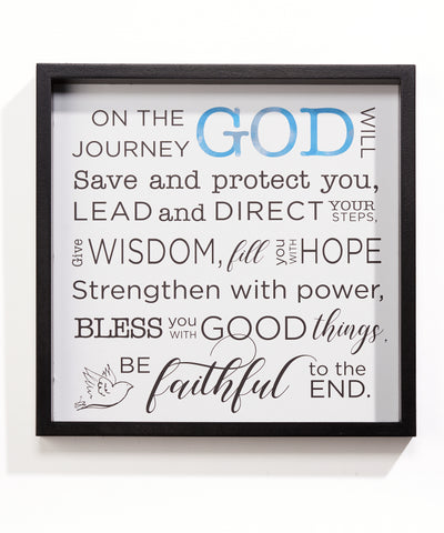 Inspirational  Wall Plaque Sign God Will Protect Christian Sentiment