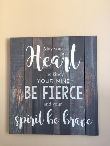 Wood Wall Plaque Inspirational 16 inches