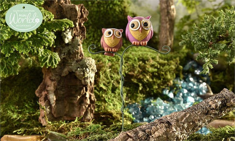Glow in Dark Mini Owls Resin Miniatures Decor Owl Lovers New Fairy Village