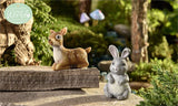 Glow in Dark Mini Rabbit and Deer Resin Miniatures Decor Animal Lovers New