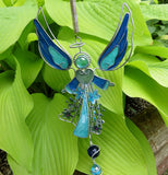 Silver Blue Angel Wind Chime