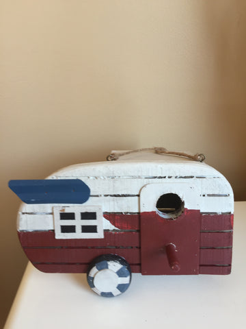 Airdale Camper Trailer Wood Bird House