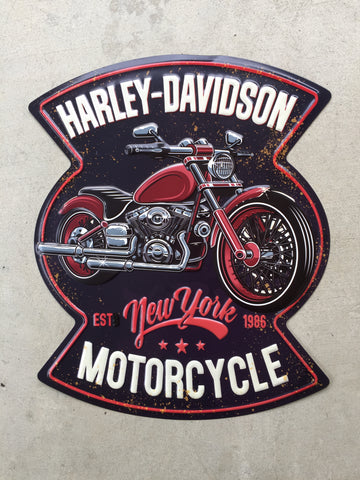 Metal Motorcycle Wall Harley Davidson Deco 24 inches