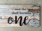 Barnboard Style Wood Wall Plaque 28 x 12 in. New Anniversary Gift Idea