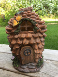 Pinecone Shaped Fairy House Design 12 in. New