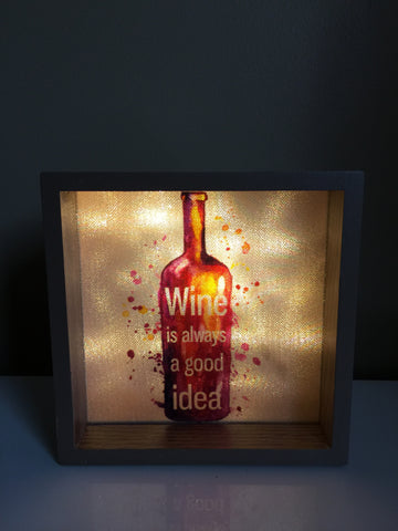 Wine Lovers LED Wall Plaque