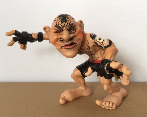Wrestler Figurine With Tattoos  Warren Stratford 5.8 in. Resin Tattoo Artist
