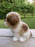 Shih Tzu Dog Puppy Figurine 7 in. Brown/White