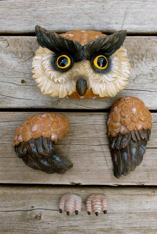 Owl Tree Hugger 5 Pieces Garden Decor