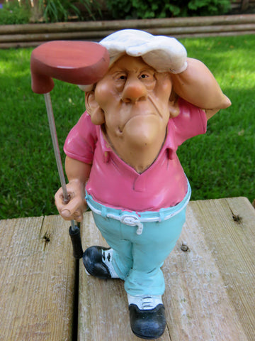 GOLFER occupation  WARREN STRATFORD MALE FIGURINE POT BELLIED FELLOW GOLF