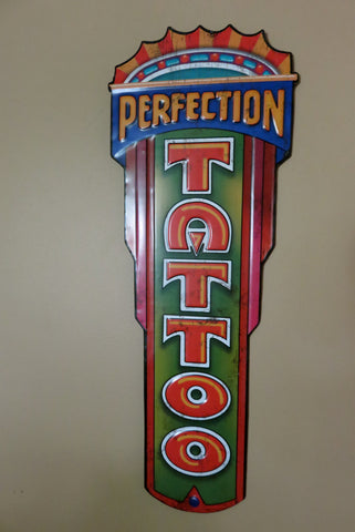TATTOO METAL WALL PLAQUE SIGN