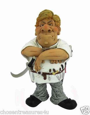 SUSHI CHEF occupation WARREN STRATFORD  MALE FIGURINE COOK KNIVES