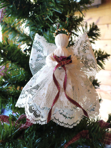 2 victorian handmade lace angels  u2013 johnnyappleseedhomeandyard