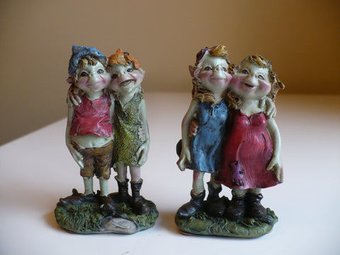 Set of Two Pixie Couples Anthony Fisher Pixies