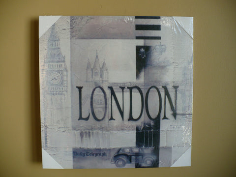 "LONDON CANVAS 16"" WALL PLAQUE"