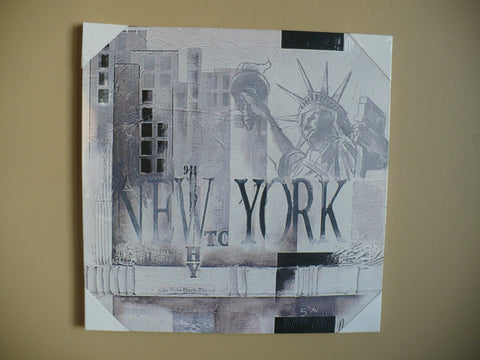"NEW YORK CANVAS 16"" WALL PLAQUE"