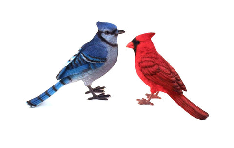 Blue Jay and Red Cardinal Bird Figurines ...