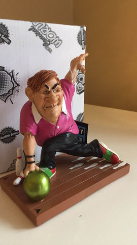 Bowling Figurine  Warren Stratford Bowler 6 in. Resin