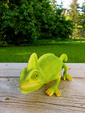 Chameleon Lizard Figurine 10 inches long