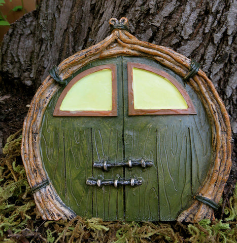 Fairy Door for Fairy Village 6.25 in. T. Glows in the Dark