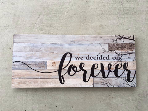 Barnboard Style Wood Wall Plaque 28 x 12 in. New Wedding Gift Idea