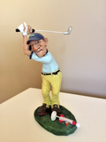 GOLF COMICAL FIGURINE WARREN STRATFORD SHOOTING A ROCKET!