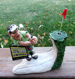 Golfer Male Figurine With Ball in Sand Trap Obstacle Course Warren Stratford Design Golf
