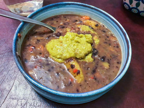 Brazilian Black Bean Soup (Modified from The Moosewood Cookbook by Mollie Katzen)