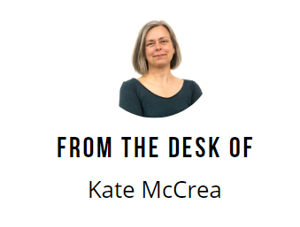 From the desk of Kate McCrea; small business smarts; lessons learned during Covid