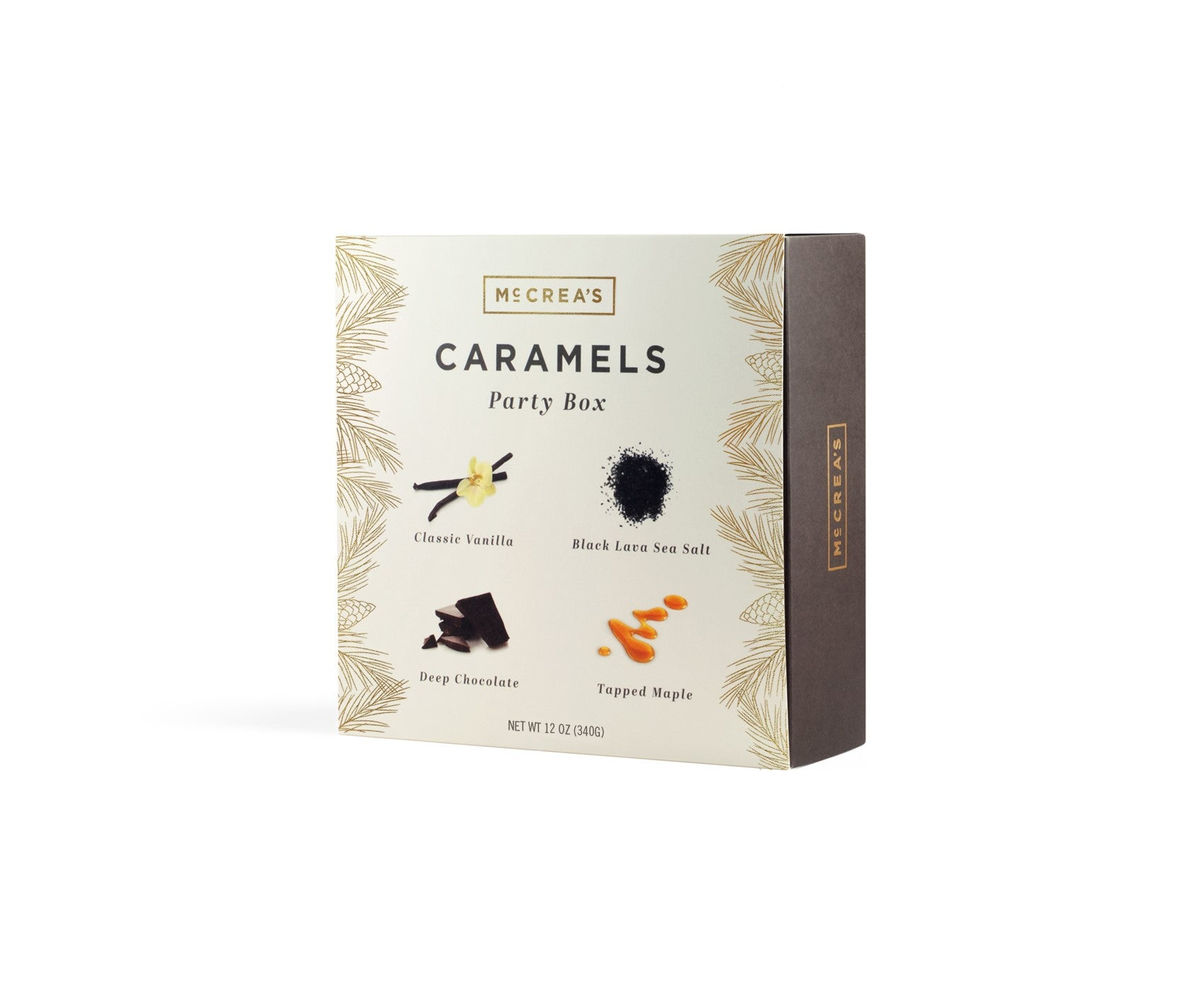 Small Holiday Party Box Caramel