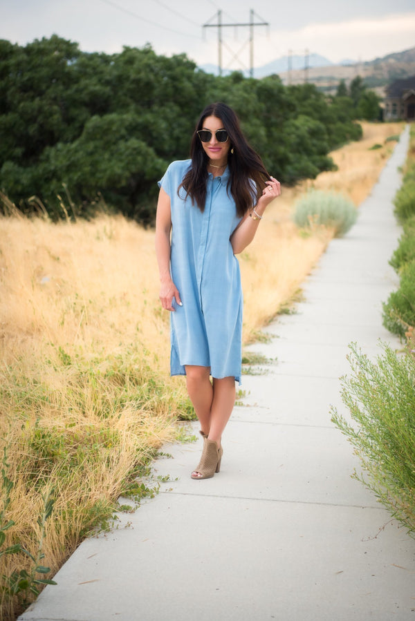 Cute and Modest Summer to Fall Transition Dresses