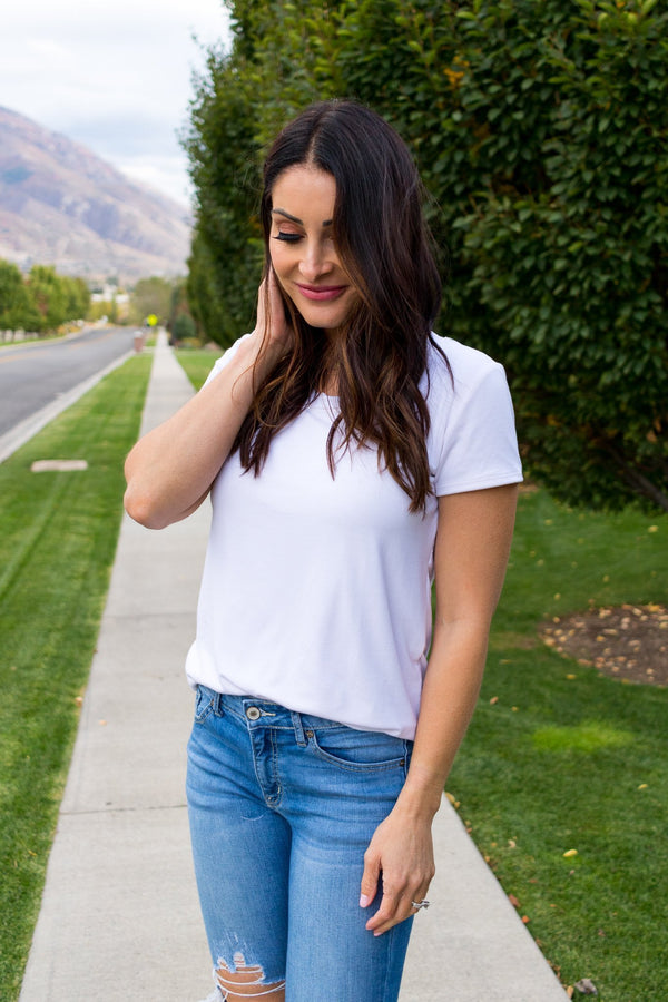 The Most Basic White Tee That Isn't See Through!